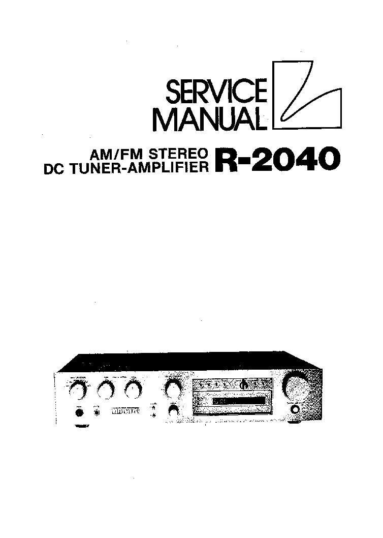 LUXMAN T115 SM Service Manual free download, schematics