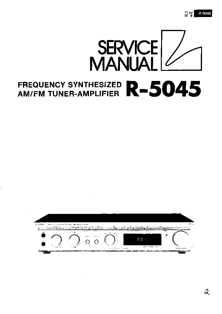 LUXMAN R-1050 SM Service Manual free download, schematics