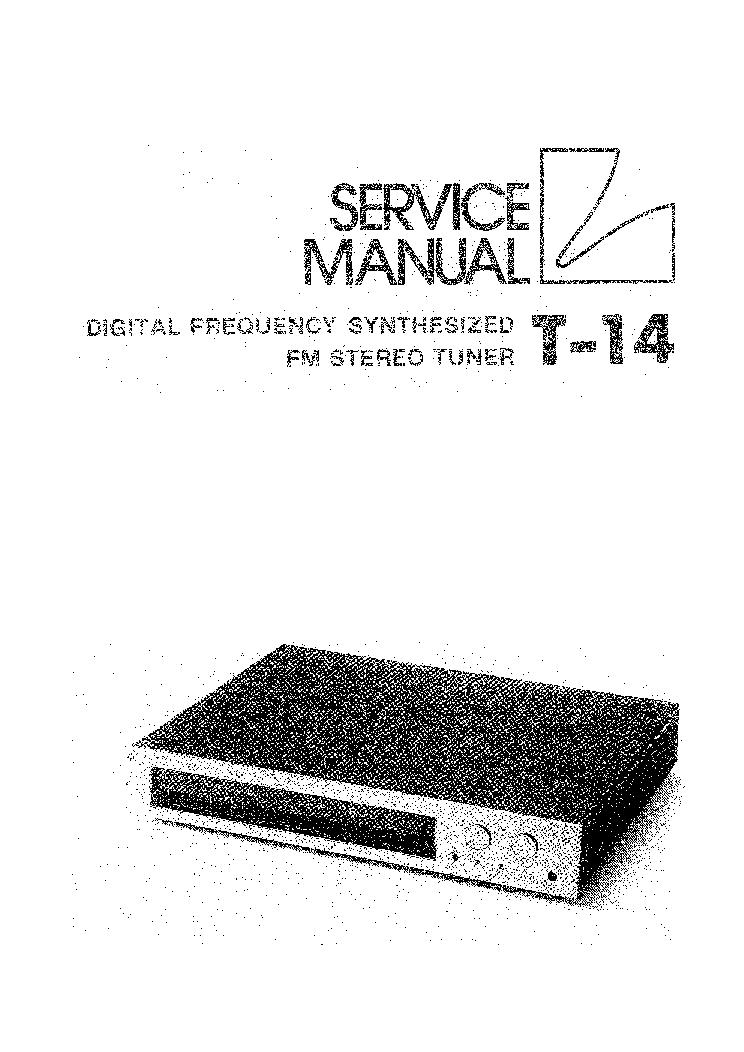 LUXMAN T-14 TUNER Service Manual download, schematics