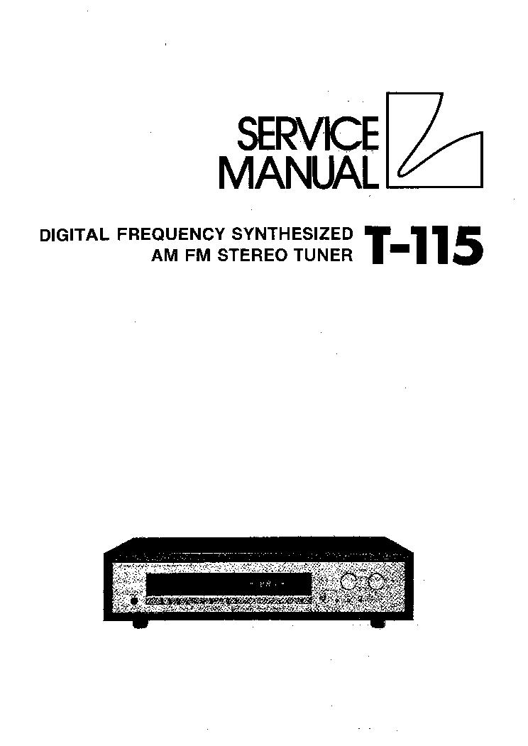 LUXMAN T115 SM Service Manual download, schematics, eeprom