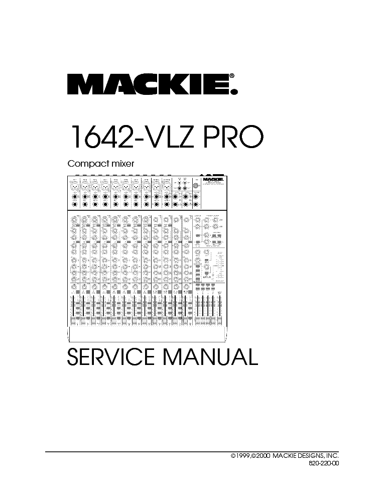 MACKIE 1642-VLZ-PRO SM NO-SCH Service Manual download