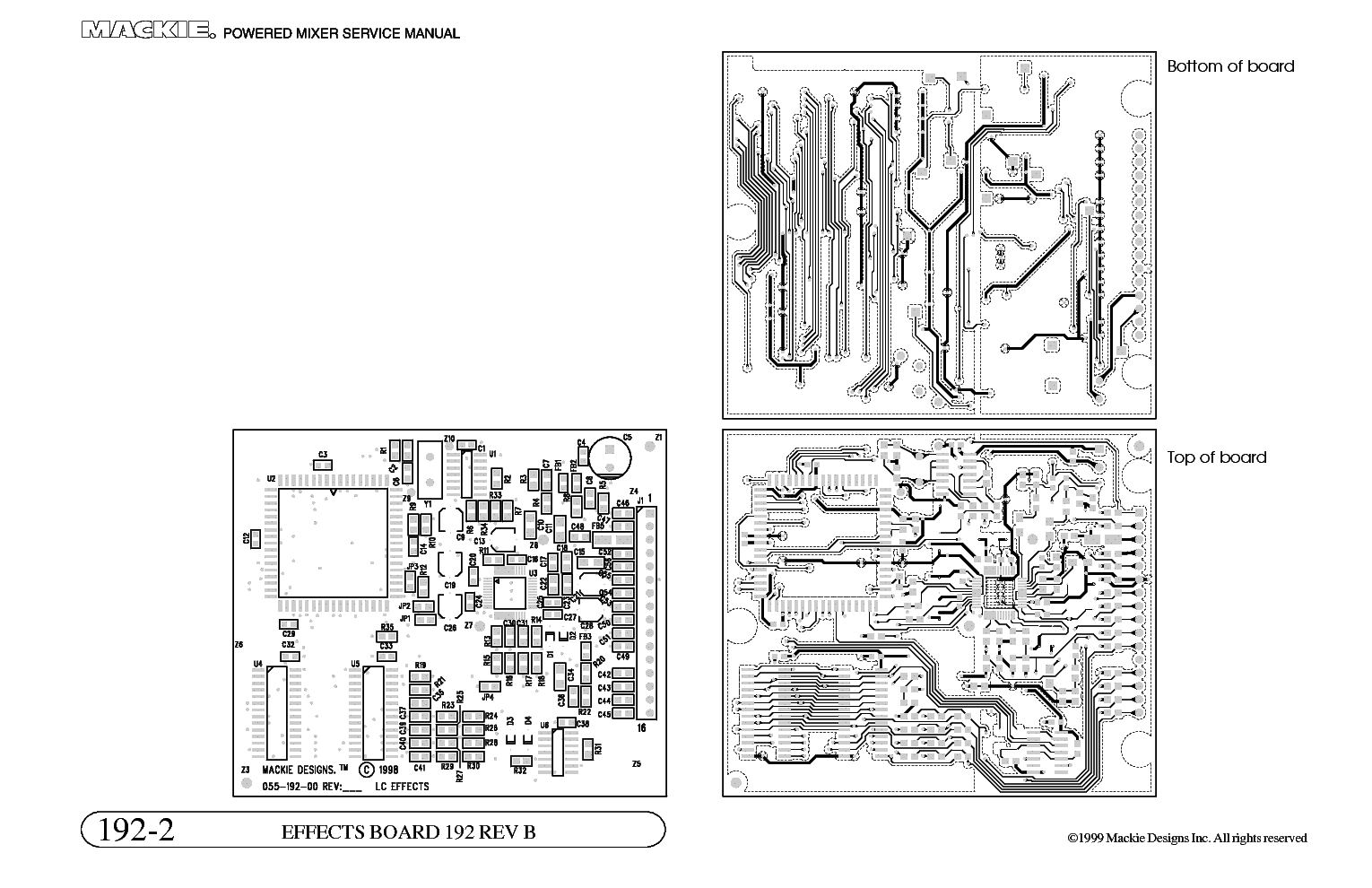 MACKIE 808S MIXER SCH Service Manual download, schematics