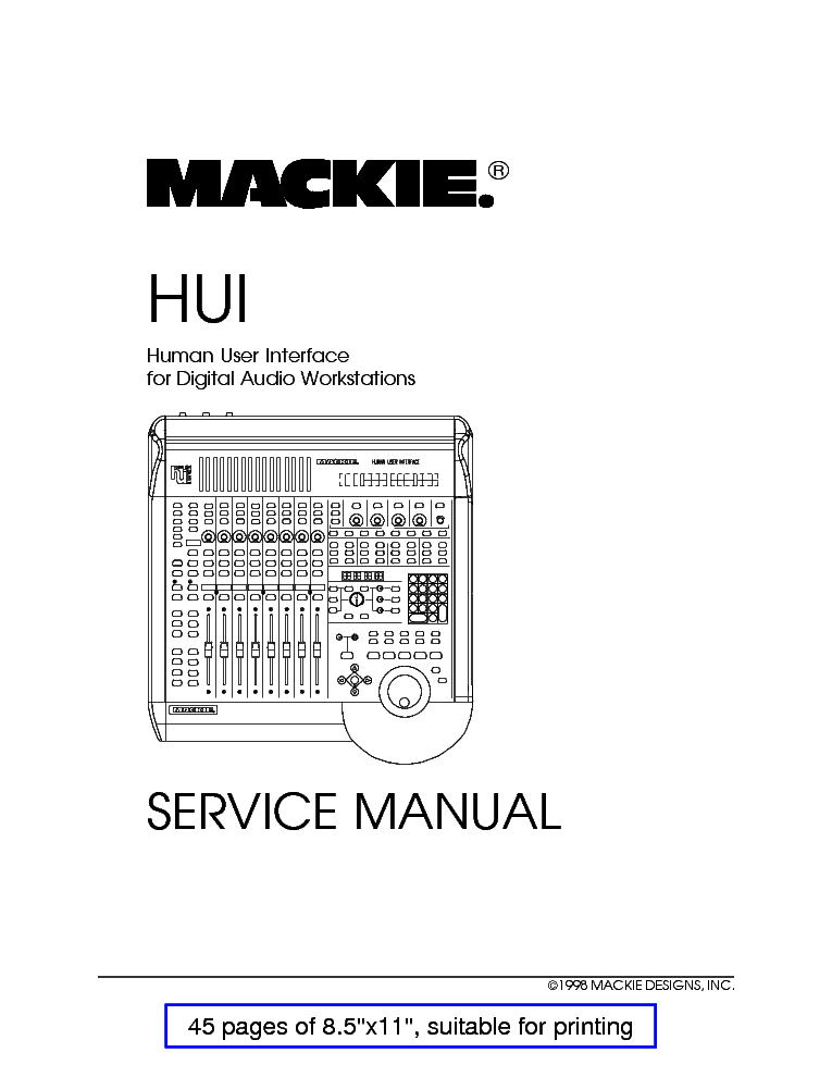 MACKIE HUI SM Service Manual download, schematics, eeprom