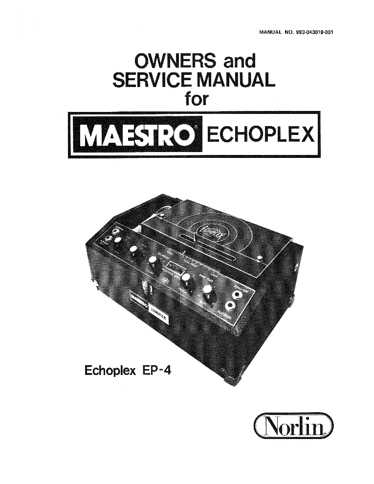 MAESTRO BB1 BASS BRASS MASTER SCH Service Manual download