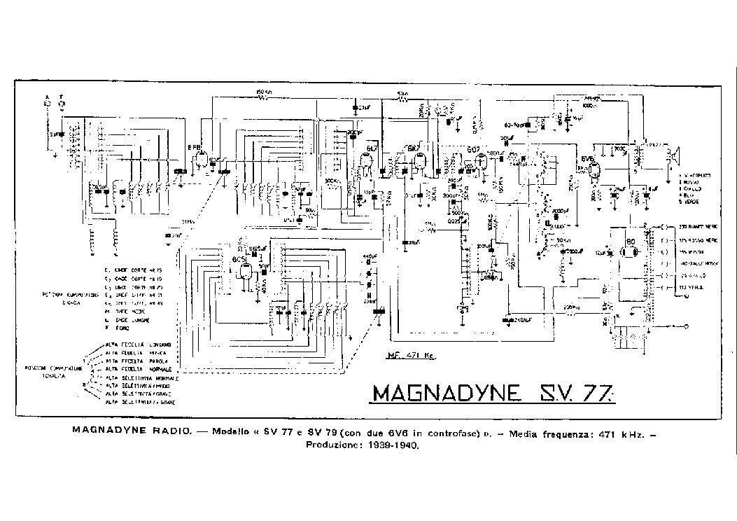 MAGNADYNE SV3 SV10 SV107 SV109 Service Manual download