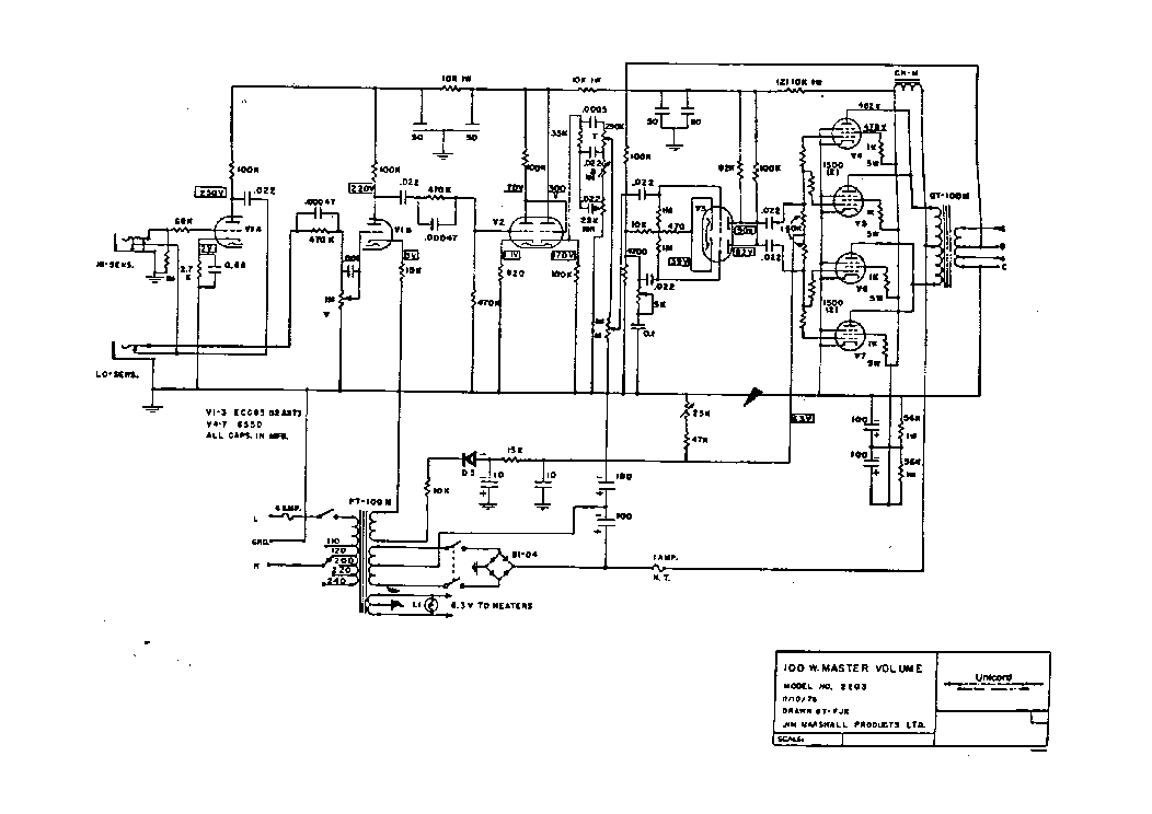 MARSHALL JMP-1930 Service Manual free download, schematics