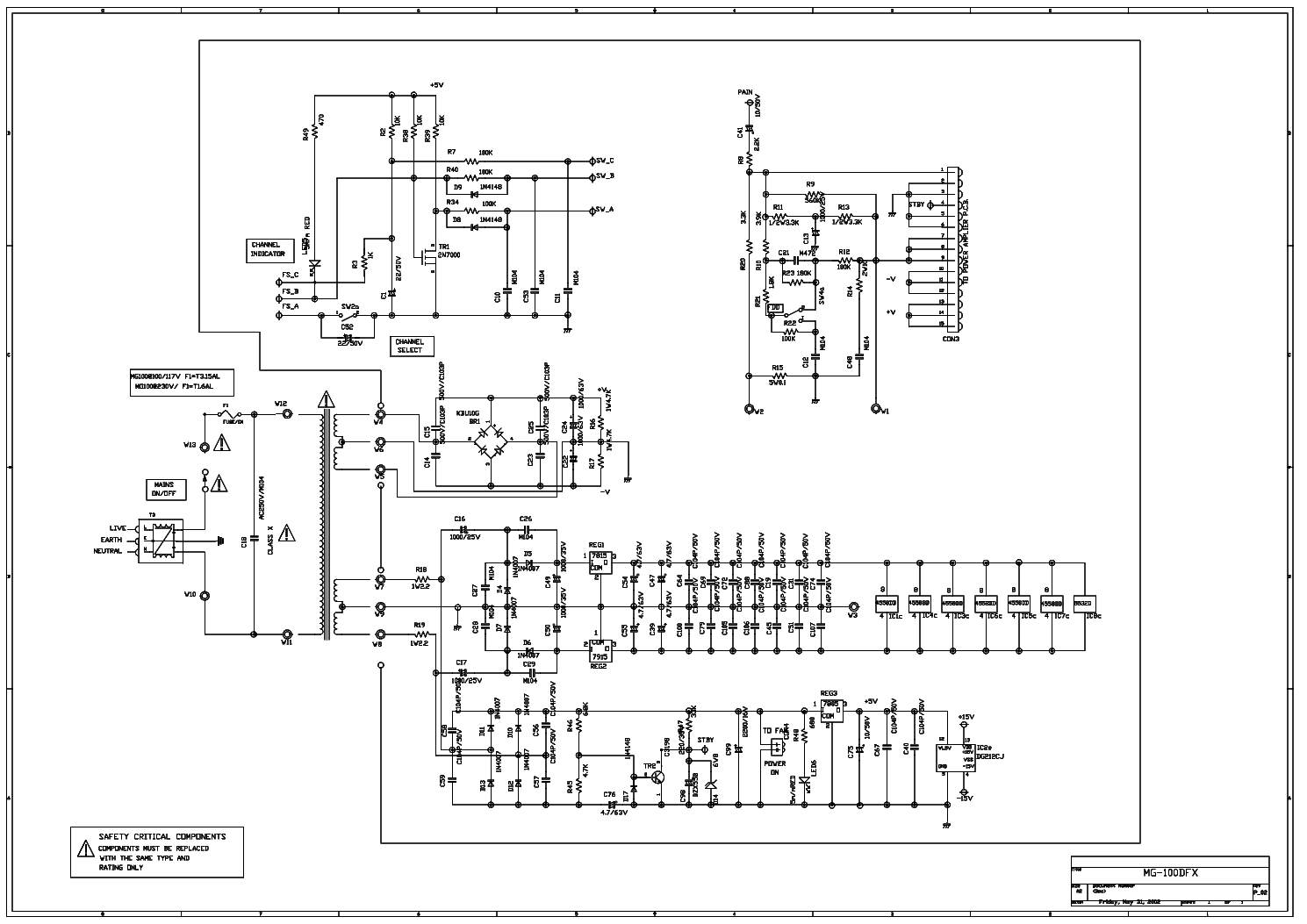 MARSHALL MG100DFX SCH Service Manual download, schematics