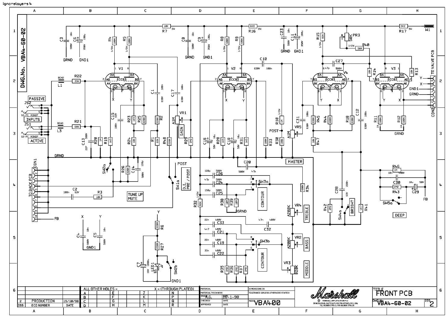 MARSHALL JCM2000 100W DSL100 Service Manual download