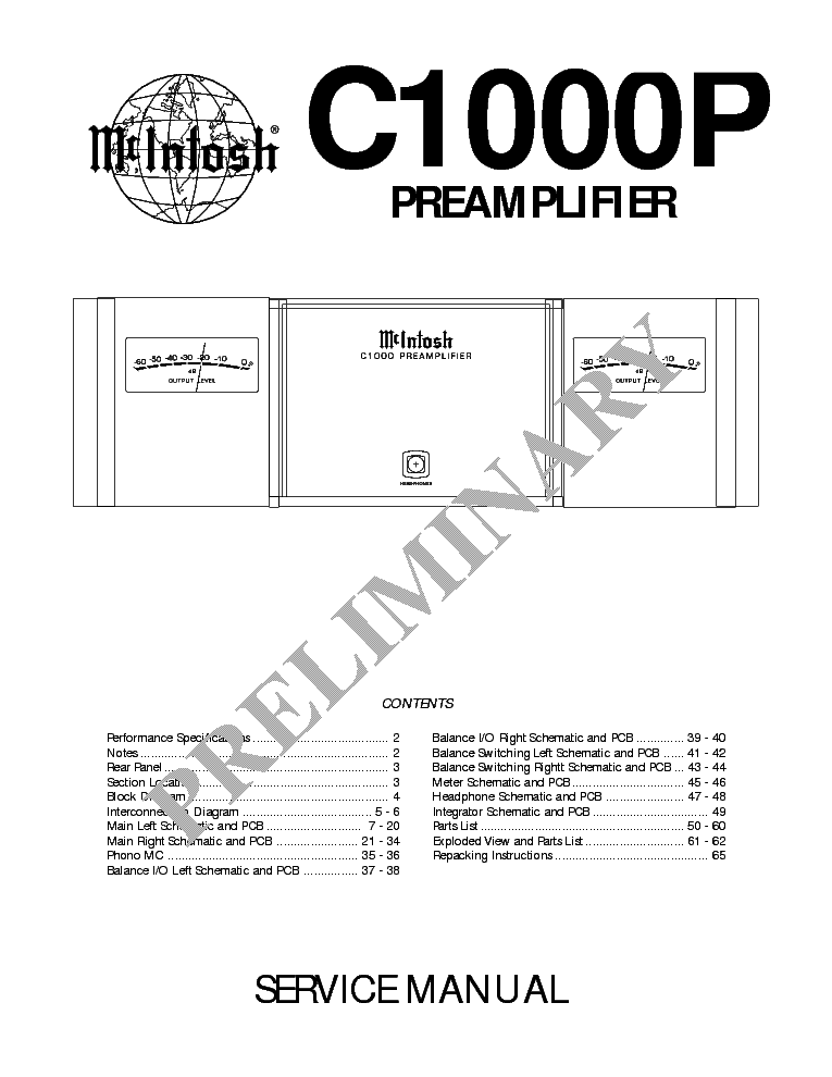 MCINTOSH MC240 SCH Service Manual download, schematics
