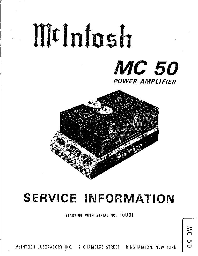 MCINTOSH MQ-107 STEREO PREAMPLIFIER SCH Service Manual