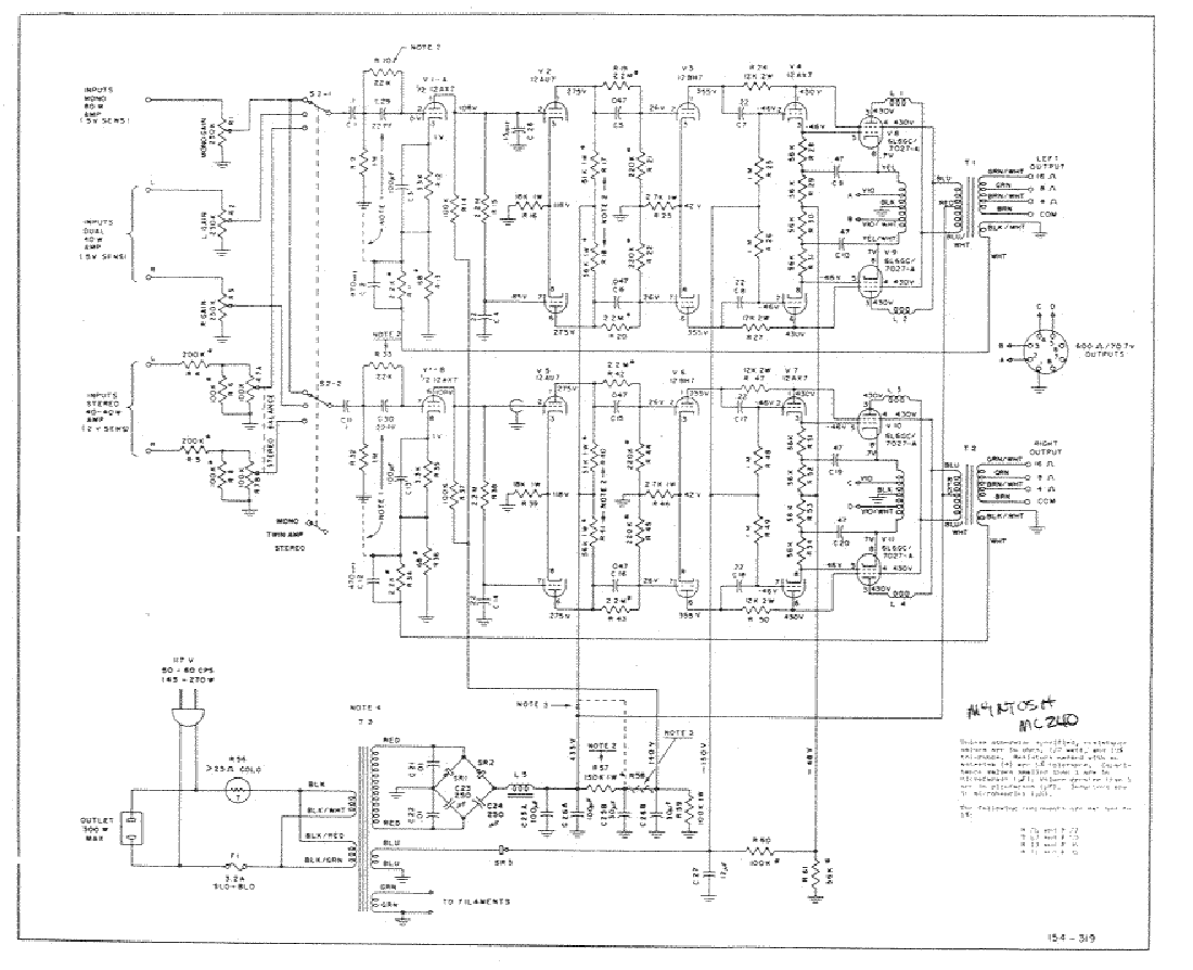 MCINTOSH C8 SCH Service Manual download, schematics