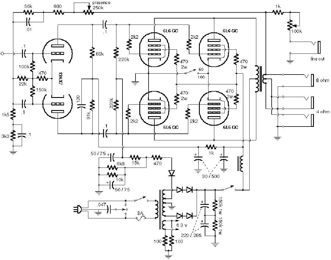Mesa Boogie Mark V Schematic Service Manual Free Download