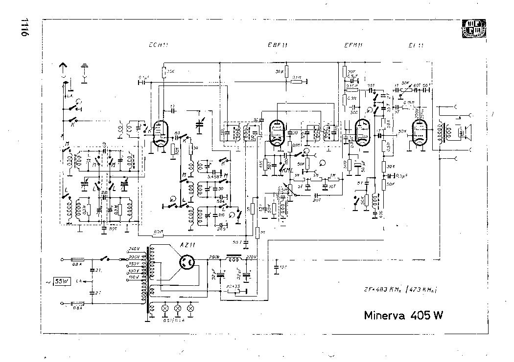 MINERVA 405W Service Manual download, schematics, eeprom
