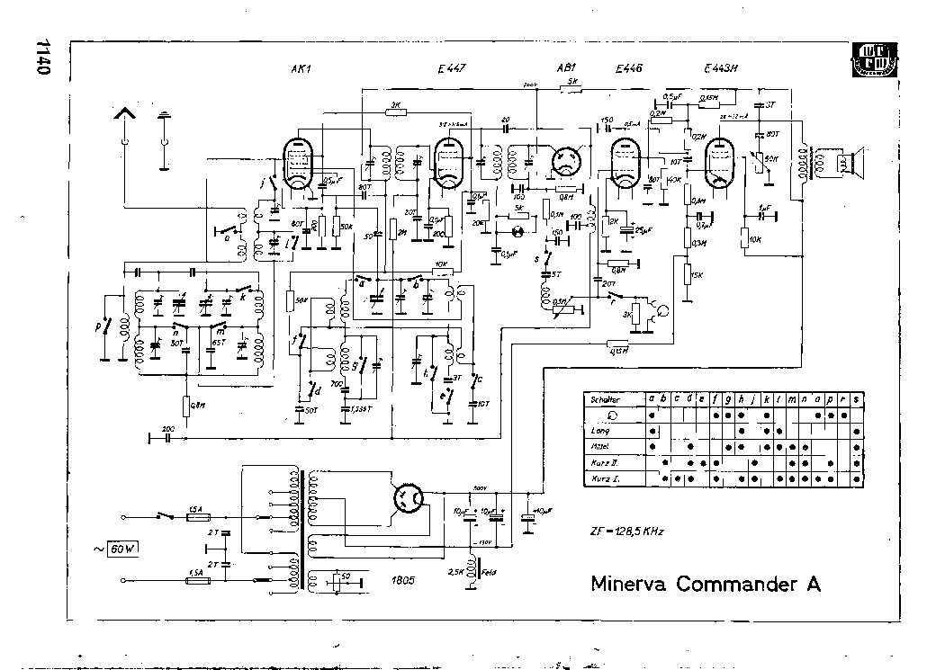 MINERVA COMMANDER-A Service Manual download, schematics