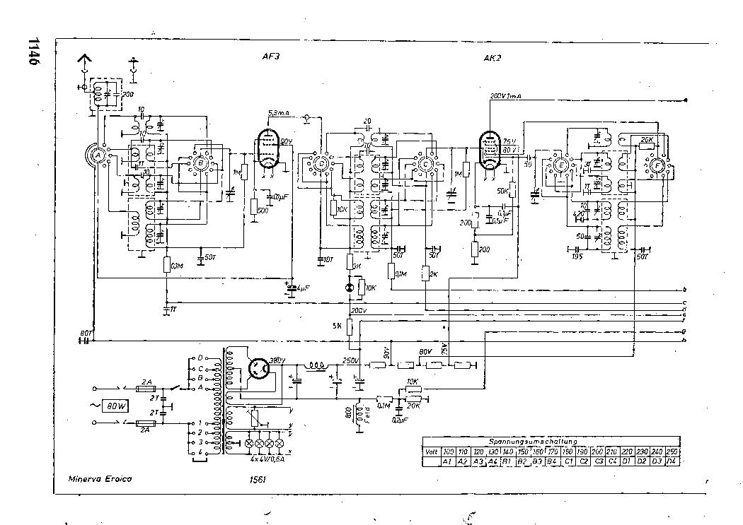 MINERVA 405W Service Manual free download, schematics