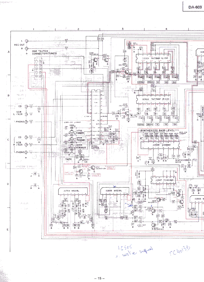 MITSUBISHI DA-603 SCH Service Manual download, schematics
