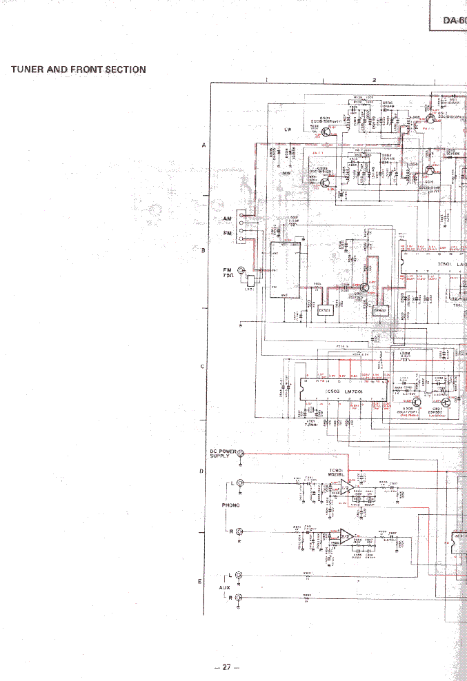 MITSUBISHI DA-60R SCH Service Manual download, schematics