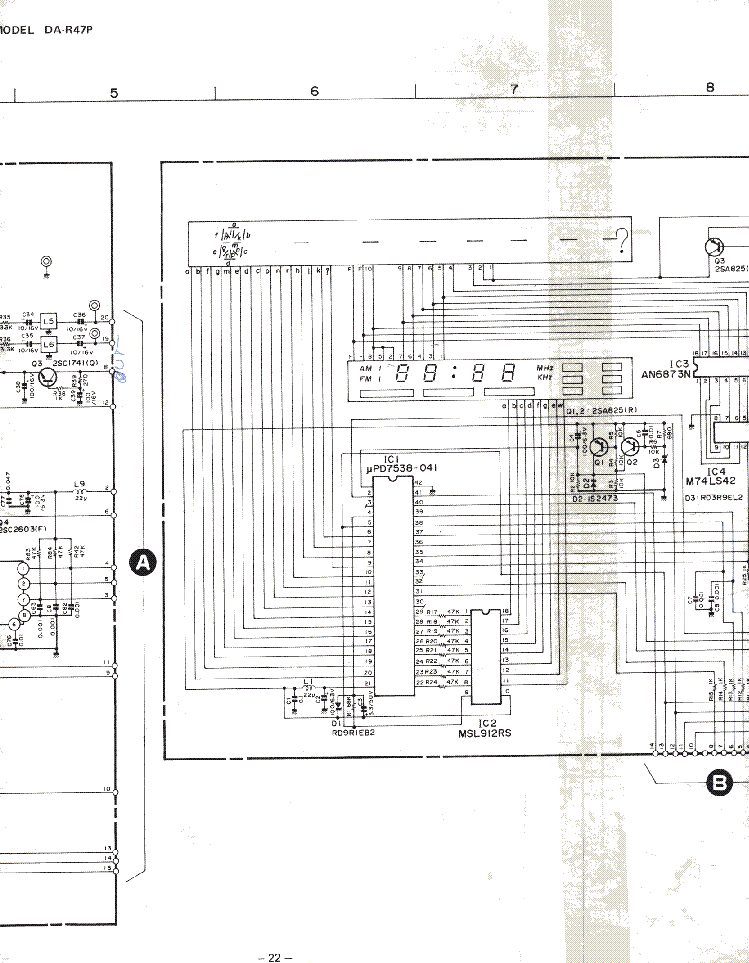 MITSUBISHI DA-R47P SCH Service Manual download, schematics