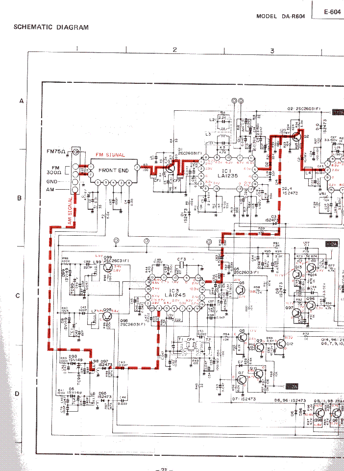 MITSUBISHI E-604 SCH Service Manual download, schematics