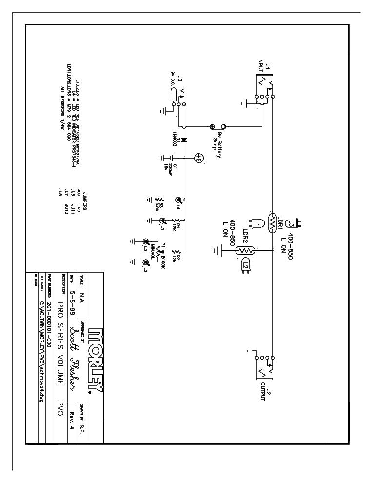 MORLEY PBA-2ES DUAL BASS WAH Service Manual free download
