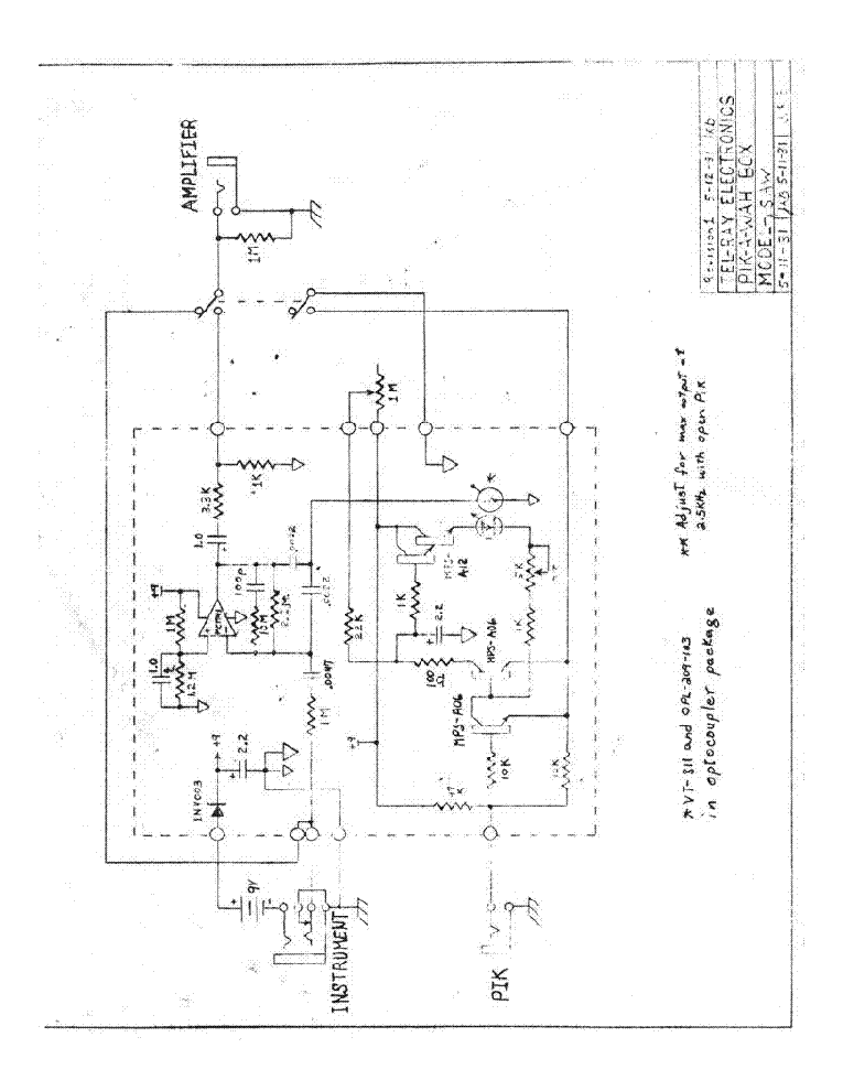 MORLEY GDB NOISE GATE Service Manual download, schematics