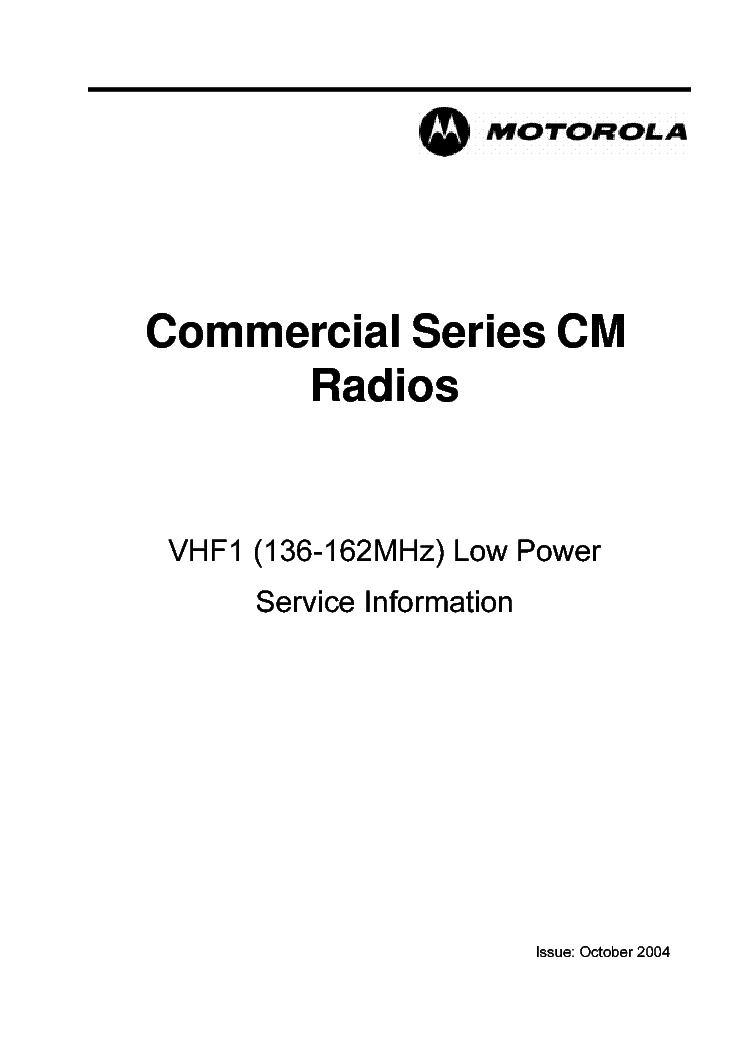 MOTOROLA CM140 Service Manual download, schematics, eeprom