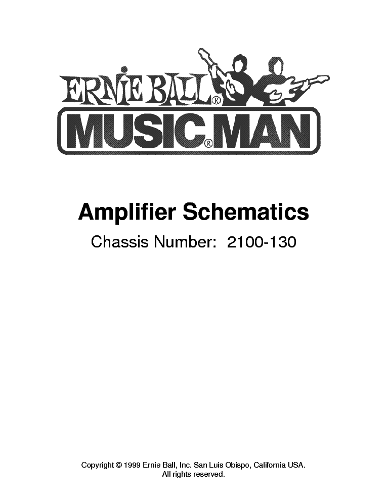 MUSIC MAN 2100-130 AMPLIFIER 1999 SCH Service Manual