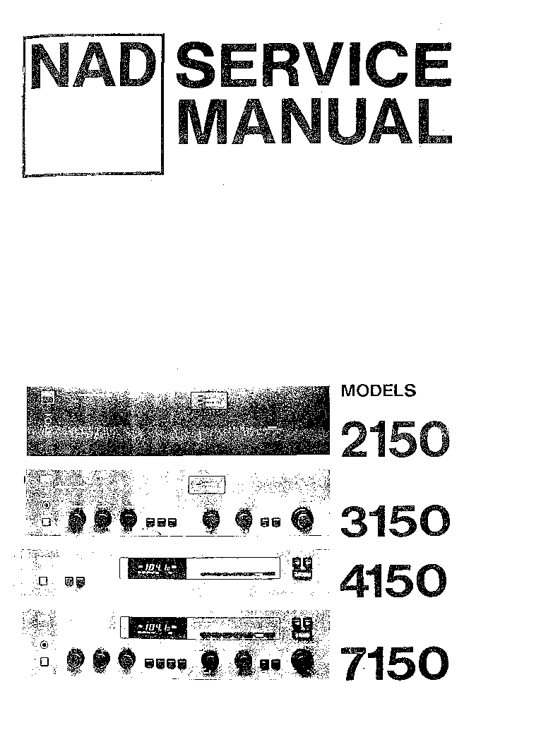 NAD 3150 Service Manual download, schematics, eeprom