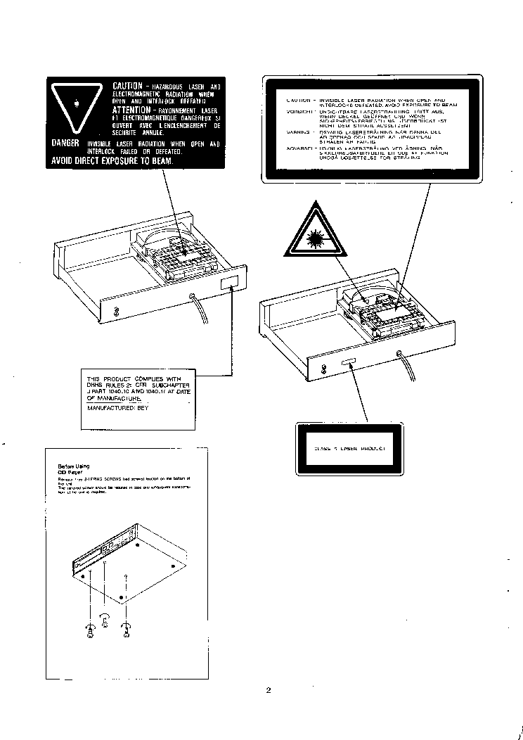 NAD 5320 5325 Service Manual download, schematics, eeprom