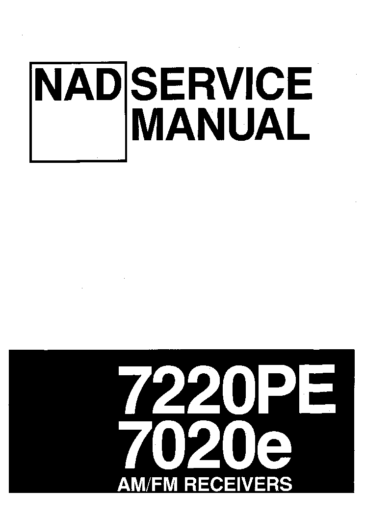 NAD 7020E 7220PE Service Manual download, schematics