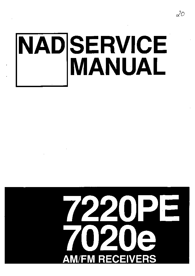 NAD 7020E 7220PE SM Service Manual download, schematics