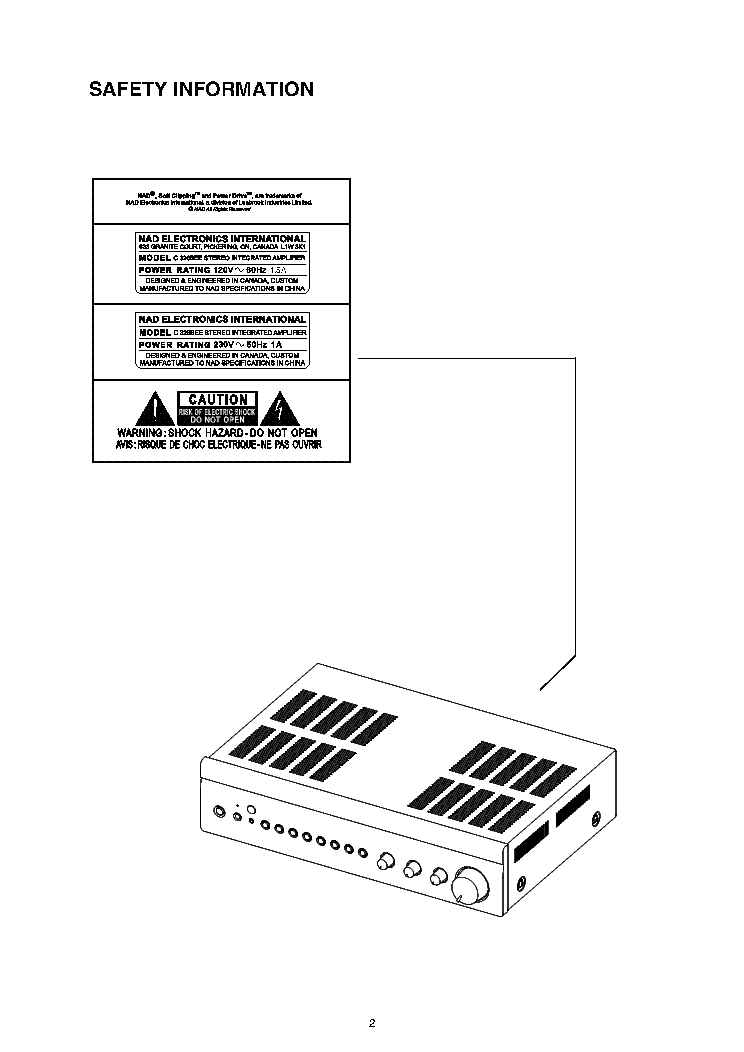 NAD C326BEE Service Manual download, schematics, eeprom