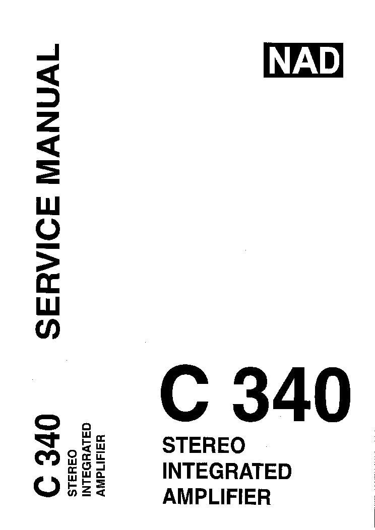NAD C340 SM Service Manual download, schematics, eeprom