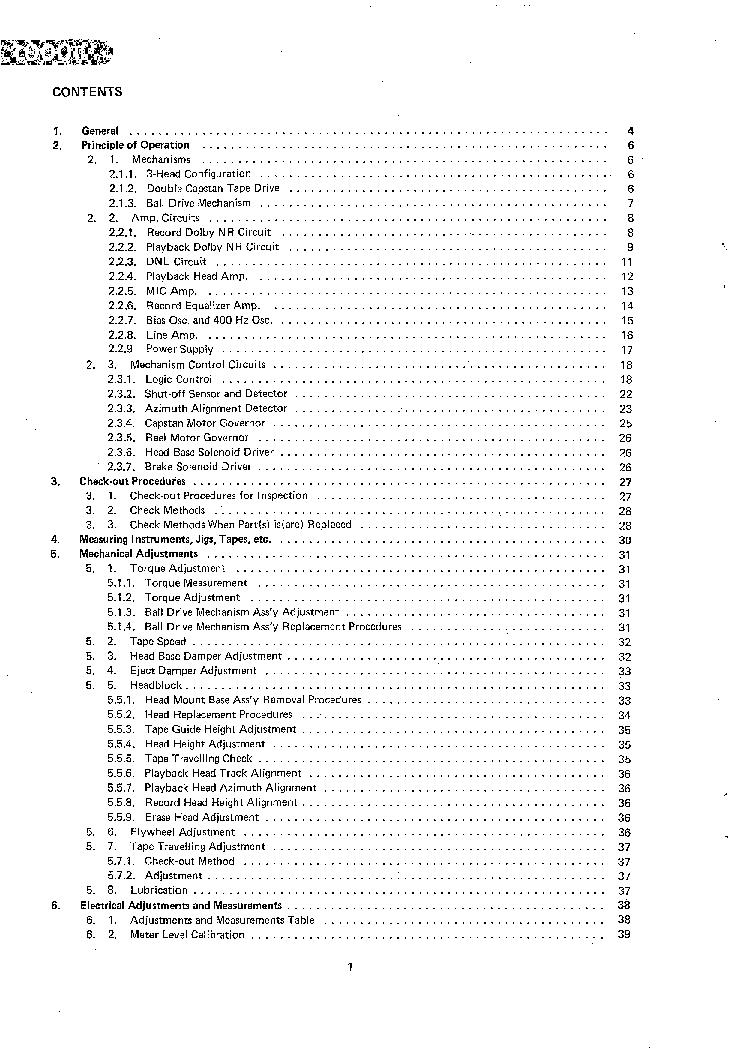 NAKAMICHI 1000II SM Service Manual download, schematics