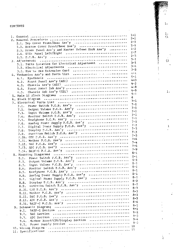 NAKAMICHI 1000P SM Service Manual download, schematics