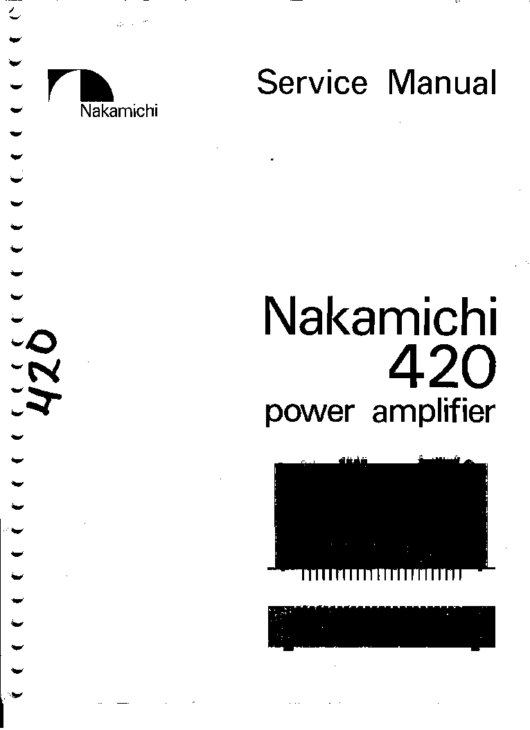 NAKAMICHI 420 Service Manual download, schematics, eeprom