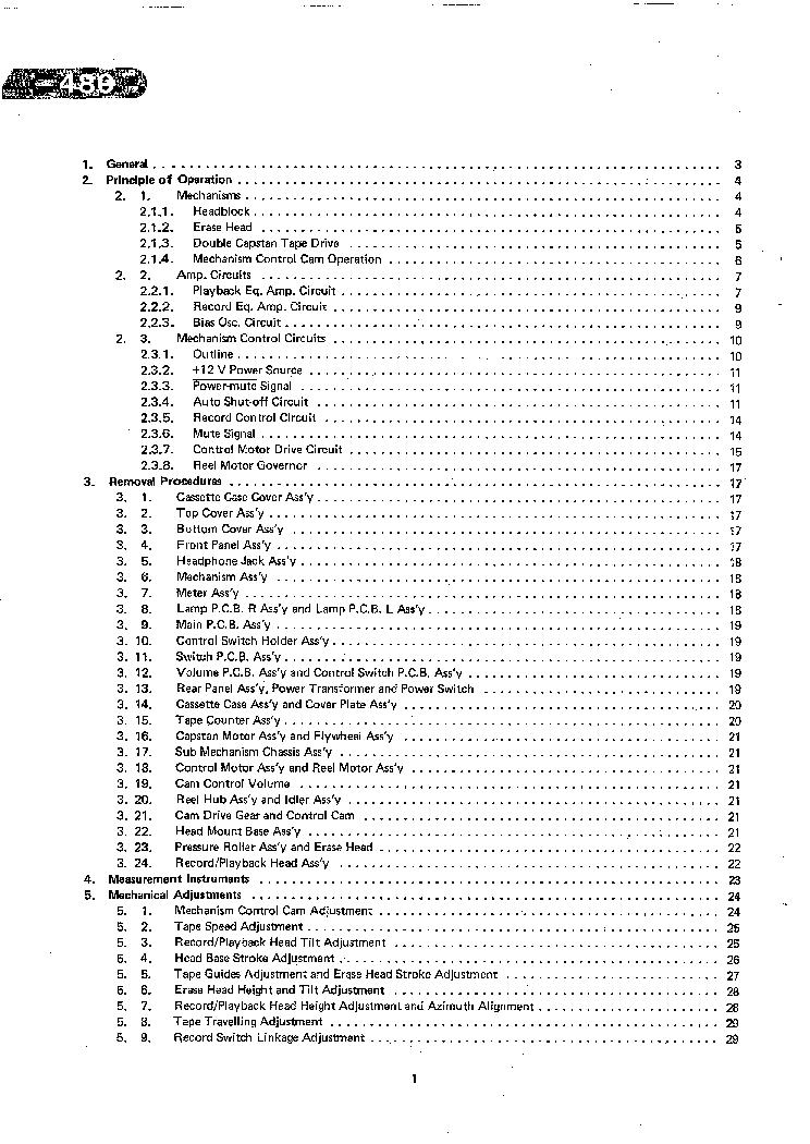 NAKAMICHI 480 SM 2 Service Manual download, schematics