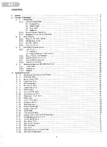 NAKAMICHI 581 SM Service Manual download, schematics