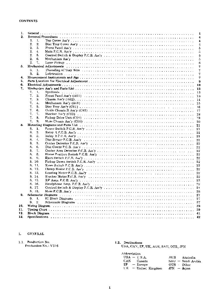 NAKAMICHI CD-PLAYER-3 Service Manual download, schematics