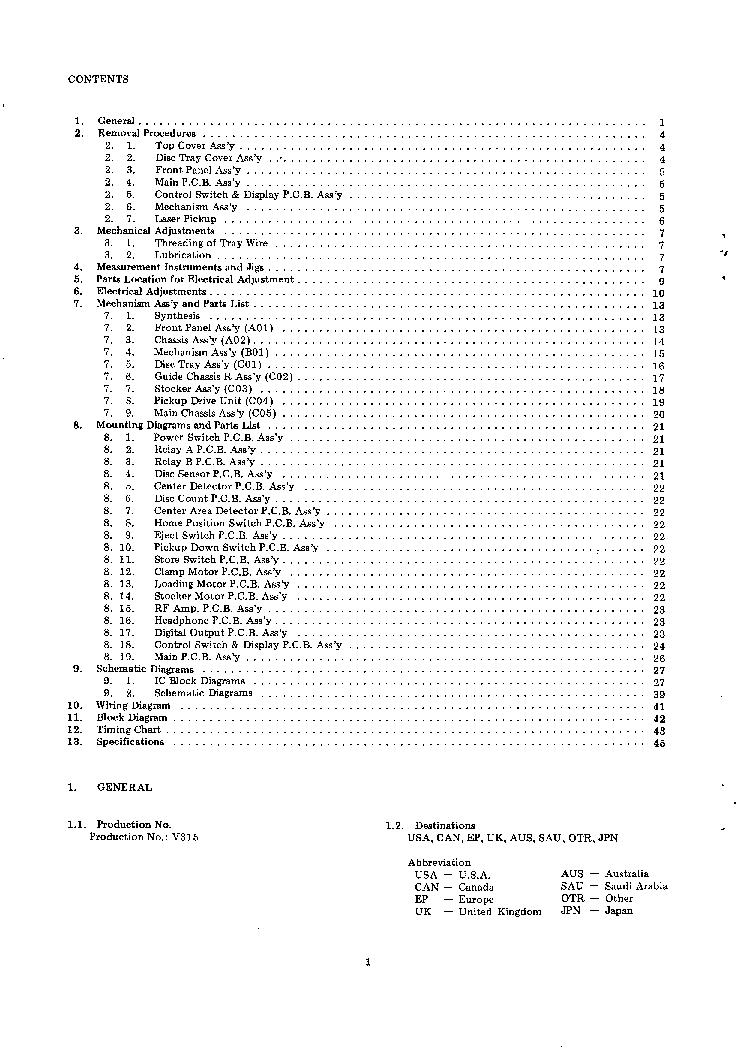 NAKAMICHI CDP2 SM Service Manual download, schematics