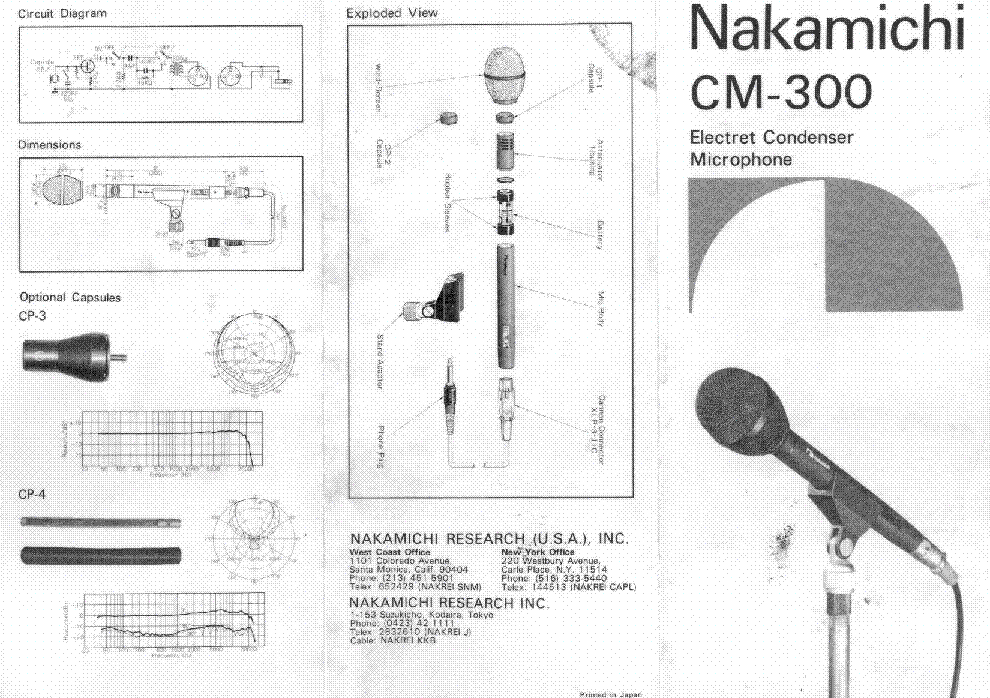NAKAMICHI CM-300 SM Service Manual download, schematics