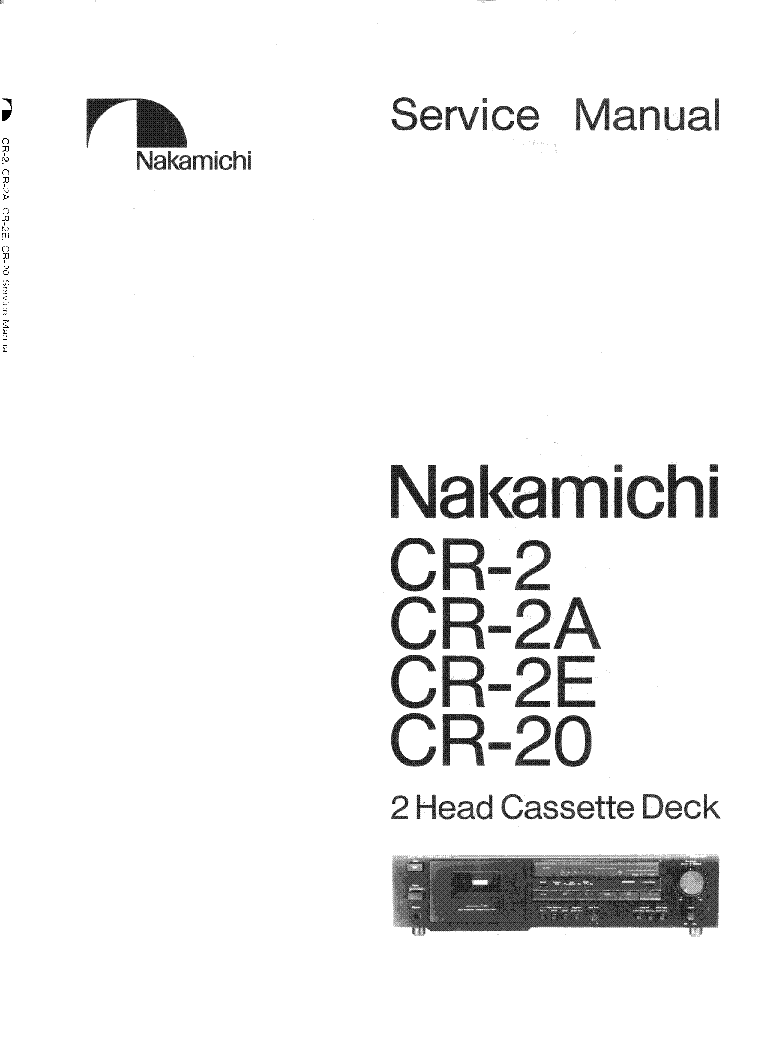 NAKAMICHI CR-2 2A 2E 20 Service Manual download