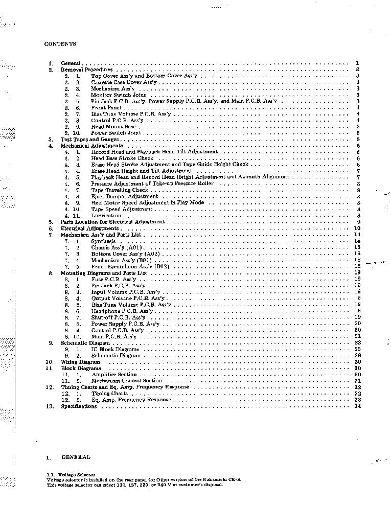 NAKAMICHI CR-3 3A 3E 30 Service Manual download