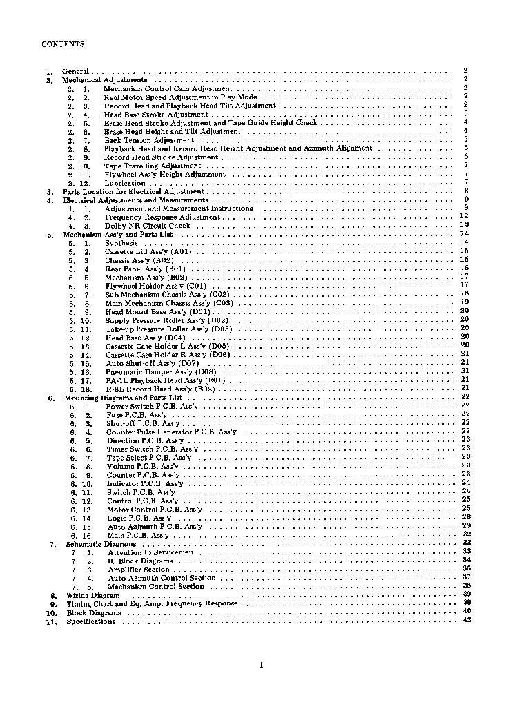 NAKAMICHI DRAGON SM Service Manual download, schematics
