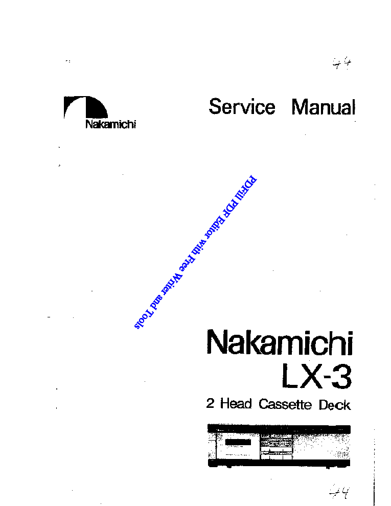 NAKAMICHI CD400 SCH Service Manual free download