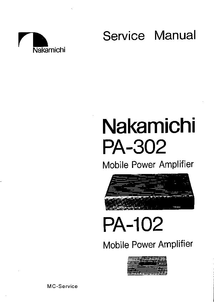 NAKAMICHI TA-4 4A 4E SM 2 Service Manual free download