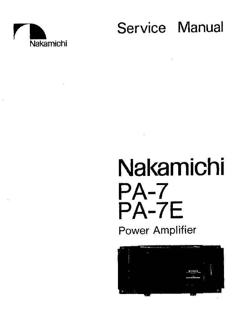 NAKAMICHI PA-7 7E Service Manual download, schematics