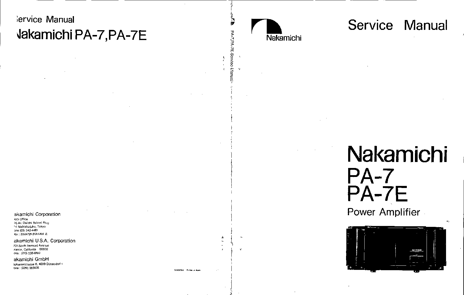 NAKAMICHI PA-7 E Service Manual download, schematics