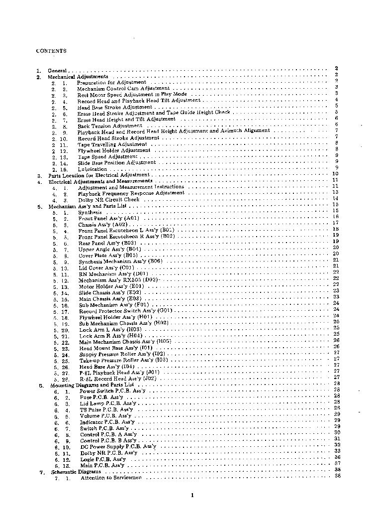 NAKAMICHI RX505 Service Manual download, schematics