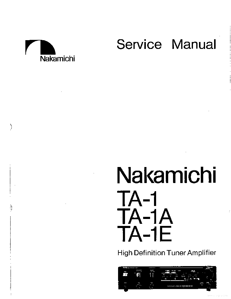NAKAMICHI DS100 DS200 SM Service Manual download
